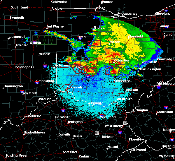 Radar Image for Severe Thunderstorms near Dayton, OH at 5/27/2019 11:34 PM EDT