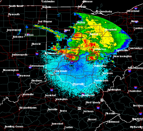 Radar Image for Severe Thunderstorms near Dayton, OH at 5/27/2019 11:35 PM EDT