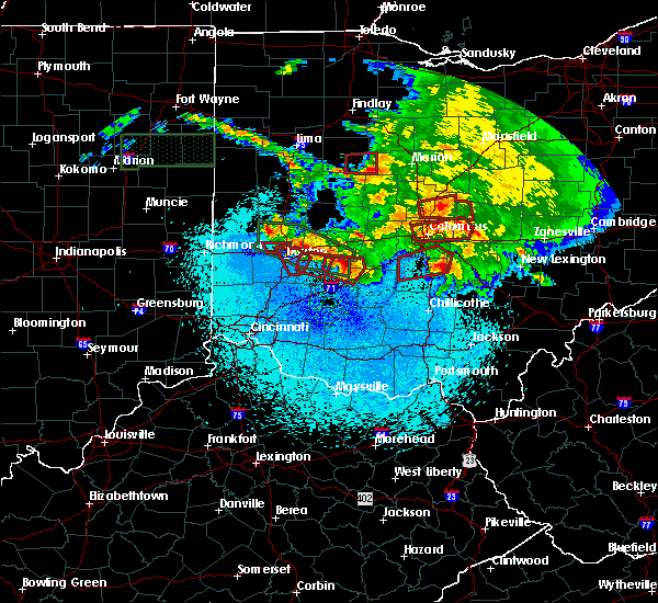 Radar Image for Severe Thunderstorms near Dayton, OH at 5/27/2019 11:49 PM EDT