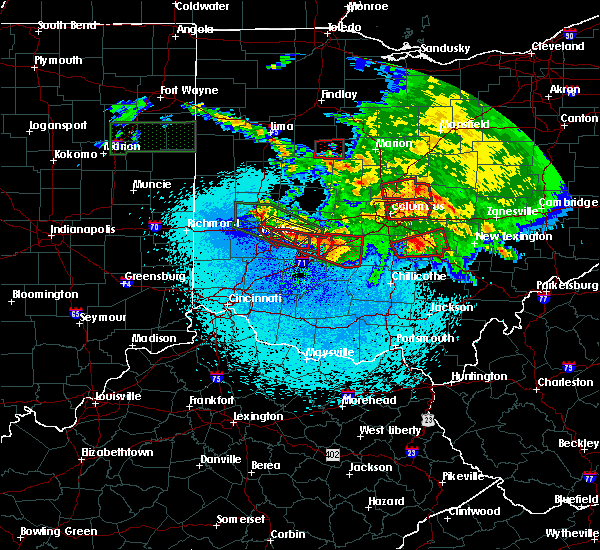 Radar Image for Severe Thunderstorms near Jeffersonville, OH at 5/27/2019 11:59 PM EDT