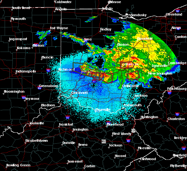 Radar Image for Severe Thunderstorms near Jeffersonville, OH at 5/28/2019 12:06 AM EDT