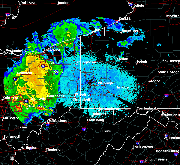 Radar Image for Severe Thunderstorms near Summerfield, OH at 5/28/2019 12:25 AM EDT
