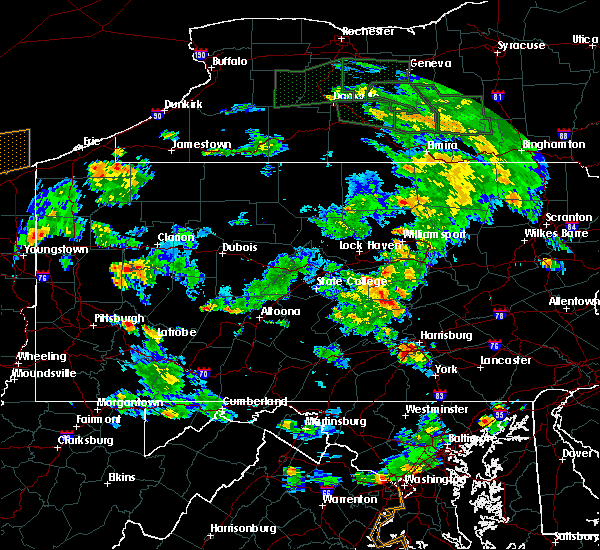 Radar Image for Severe Thunderstorms near Muncy, PA at 6/14/2015 5:27 PM EDT