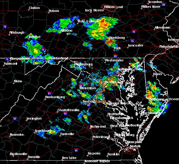 Radar Image for Severe Thunderstorms near Seven Corners, VA at 6/14/2015 5:38 PM EDT