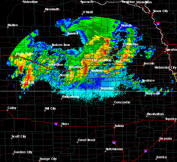 Radar Image for Severe Thunderstorms near Grand Island, NE at 5/28/2019 2:37 AM CDT