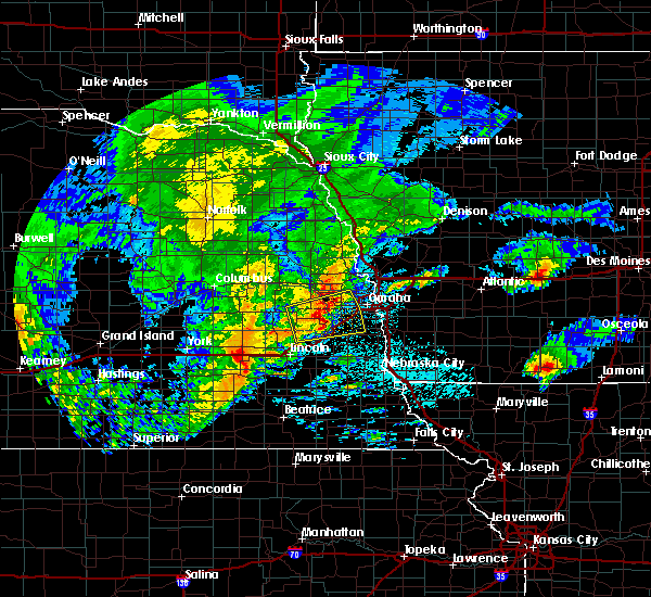Radar Image for Severe Thunderstorms near Omaha, NE at 5/28/2019 4:09 AM CDT