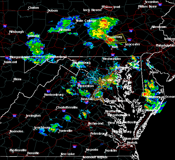 Radar Image for Severe Thunderstorms near Seat Pleasant, MD at 6/14/2015 5:50 PM EDT