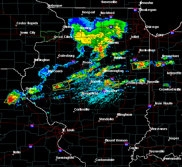 Radar Image for Severe Thunderstorms near Weldon, IL at 5/28/2019 2:18 PM CDT