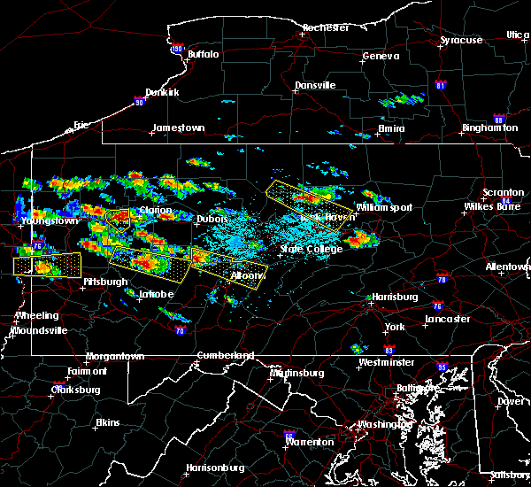 Radar Image for Severe Thunderstorms near Hastings, PA at 5/28/2019 3:21 PM EDT