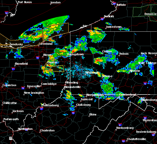 Radar Image for Severe Thunderstorms near Summitville, OH at 6/14/2015 5:55 PM EDT
