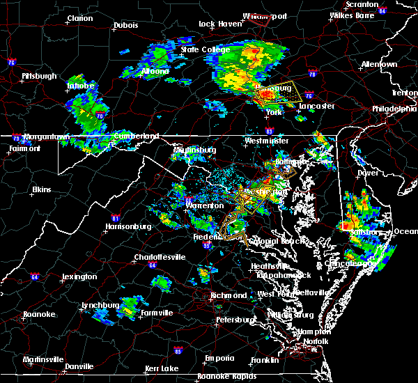 Radar Image for Severe Thunderstorms near Summerfield, MD at 6/14/2015 5:58 PM EDT