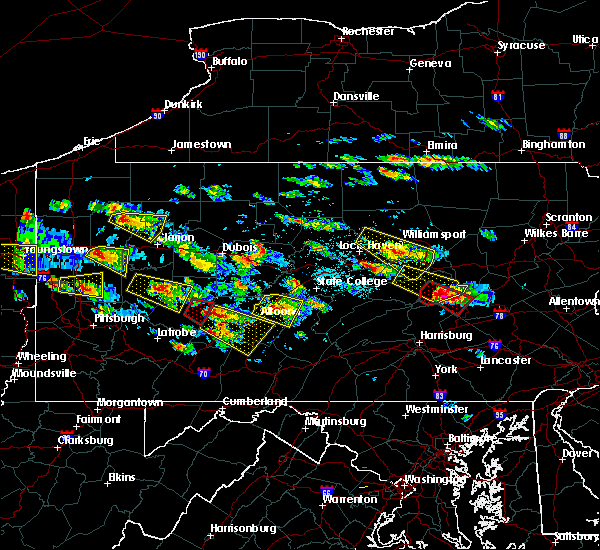Radar Image for Severe Thunderstorms near Clymer, PA at 5/28/2019 4:12 PM EDT