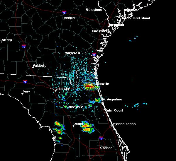 Radar Image for Severe Thunderstorms near Jacksonville, FL at 5/28/2019 4:13 PM EDT