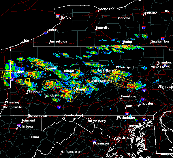 Radar Image for Severe Thunderstorms near Williamsport, PA at 5/28/2019 4:14 PM EDT