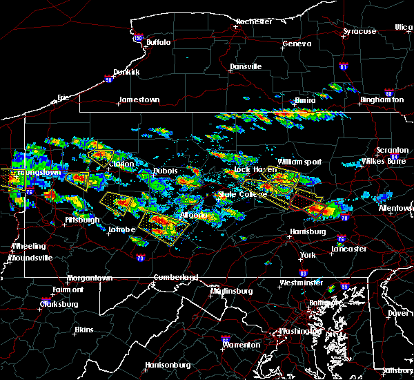 Radar Image for Severe Thunderstorms near Tower City, PA at 5/28/2019 4:25 PM EDT