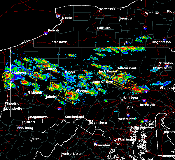 Radar Image for Severe Thunderstorms near Mapleton, PA at 5/28/2019 4:30 PM EDT