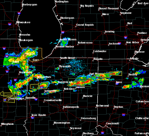 Radar Image for Severe Thunderstorms near Warren, IN at 5/28/2019 4:33 PM EDT