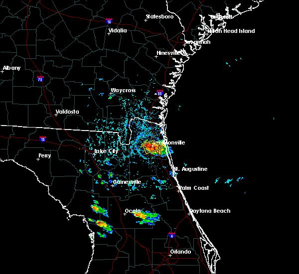 Radar Image for Severe Thunderstorms near Jacksonville, FL at 5/28/2019 4:35 PM EDT