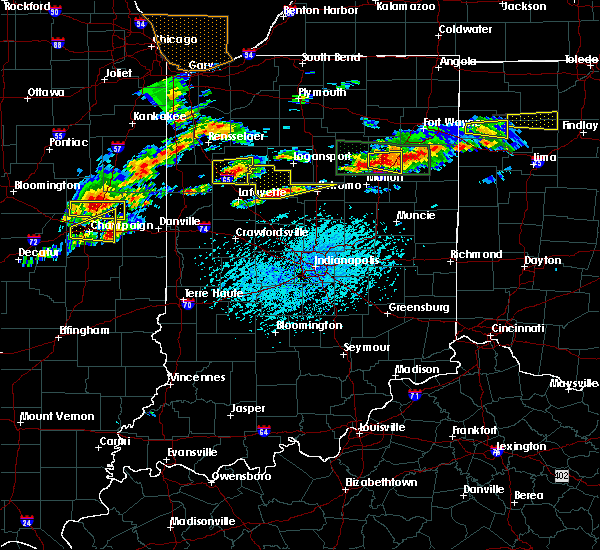 Radar Image for Severe Thunderstorms near Camden, IN at 5/28/2019 4:35 PM EDT