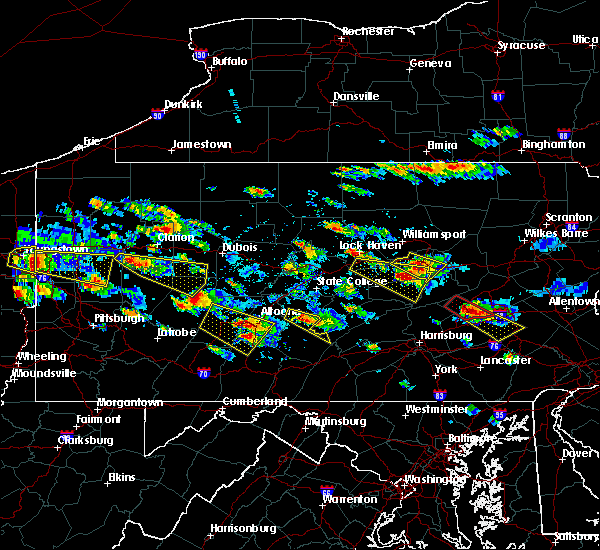 Radar Image for Severe Thunderstorms near Kreamer, PA at 5/28/2019 4:38 PM EDT