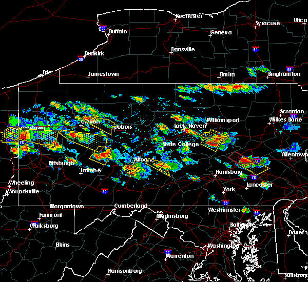 Radar Image for Severe Thunderstorms near Mill Hall, PA at 5/28/2019 4:44 PM EDT