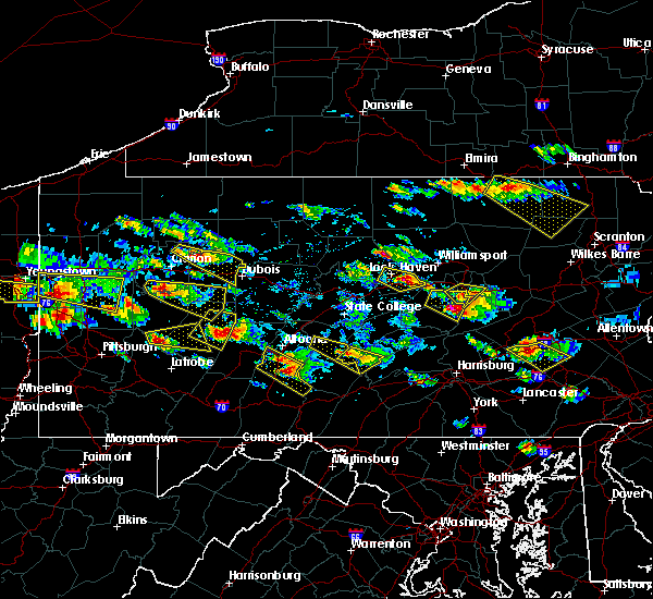 Radar Image for Severe Thunderstorms near Cherry Tree, PA at 5/28/2019 4:53 PM EDT