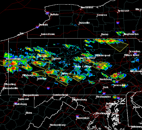 Radar Image for Severe Thunderstorms near Hastings, PA at 5/28/2019 4:53 PM EDT