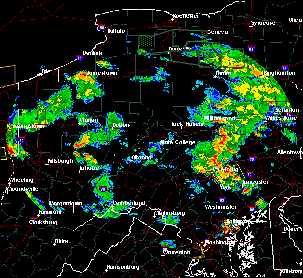Radar Image for Severe Thunderstorms near Timber Hills, PA at 6/14/2015 6:16 PM EDT