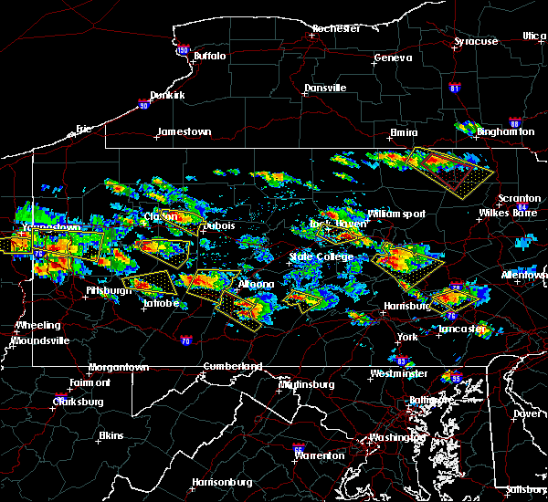 Radar Image for Severe Thunderstorms near Smicksburg, PA at 5/28/2019 5:02 PM EDT
