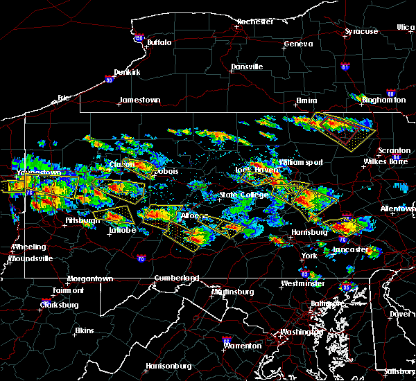 Radar Image for Severe Thunderstorms near Salladasburg, PA at 5/28/2019 5:03 PM EDT