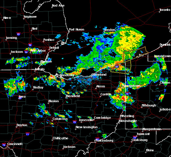 Radar Image for Severe Thunderstorms near Roaming Shores, OH at 6/14/2015 6:20 PM EDT