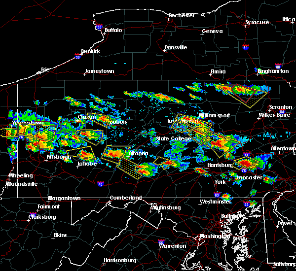 Radar Image for Severe Thunderstorms near Mill Hall, PA at 5/28/2019 5:10 PM EDT