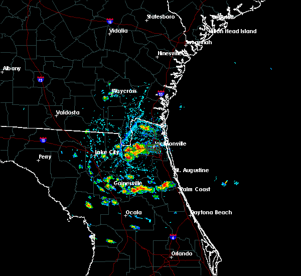 Radar Image for Severe Thunderstorms near Jacksonville, FL at 5/28/2019 5:19 PM EDT