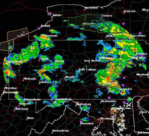 Radar Image for Severe Thunderstorms near Tower City, PA at 6/14/2015 6:25 PM EDT