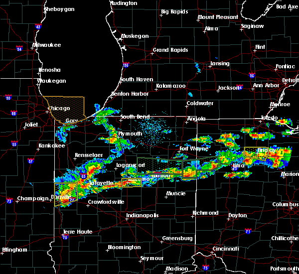 Radar Image for Severe Thunderstorms near Rockford, OH at 5/28/2019 5:44 PM EDT