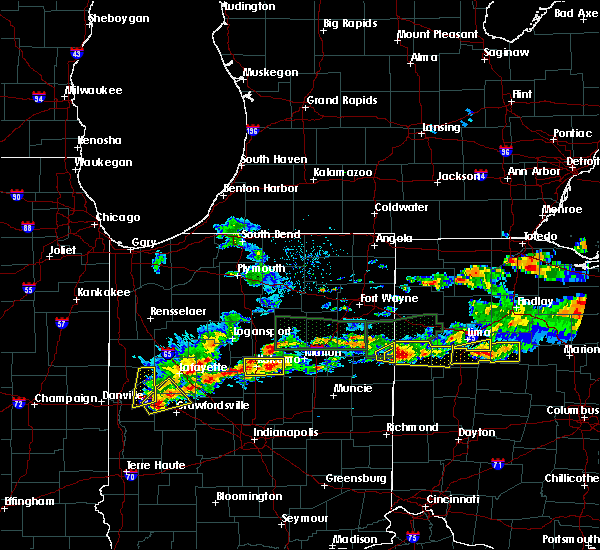 Radar Image for Severe Thunderstorms near Rockford, OH at 5/28/2019 5:55 PM EDT