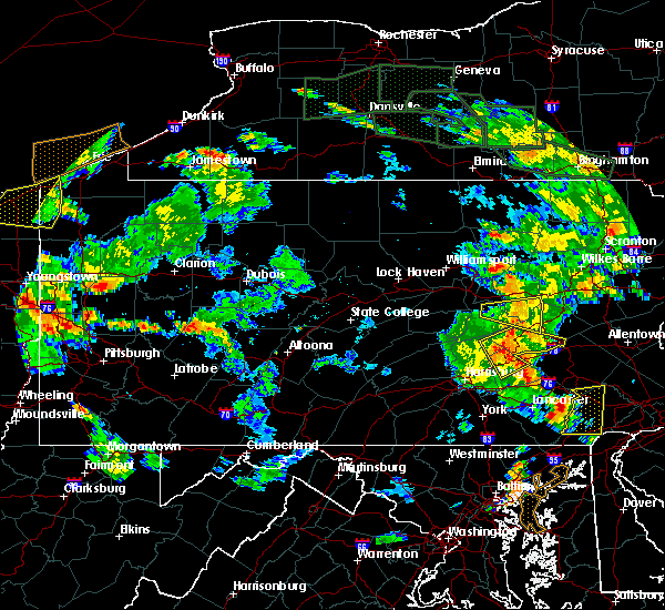 Radar Image for Severe Thunderstorms near Frackville, PA at 6/14/2015 6:45 PM EDT