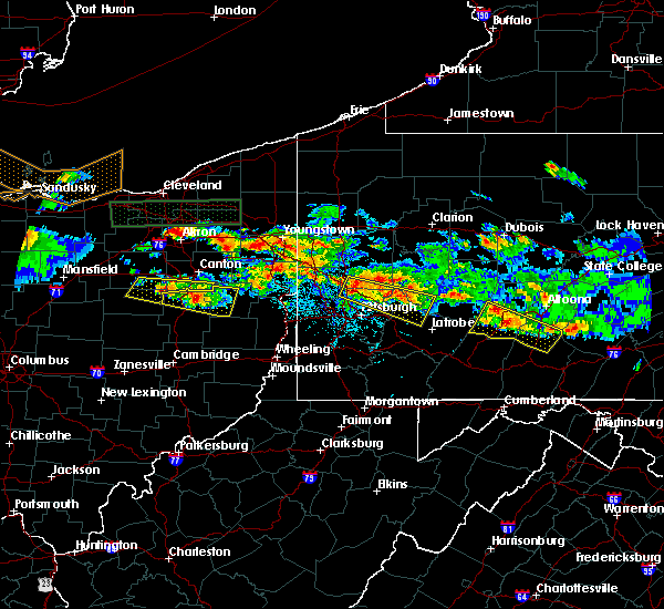 Radar Image for Severe Thunderstorms near Bradford Woods, PA at 5/28/2019 6:04 PM EDT