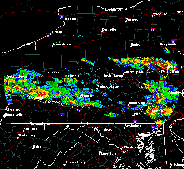 Radar Image for Severe Thunderstorms near East Freedom, PA at 5/28/2019 6:13 PM EDT