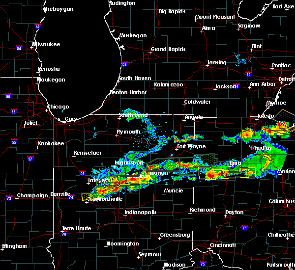 Radar Image for Severe Thunderstorms near Rockford, OH at 5/28/2019 6:15 PM EDT