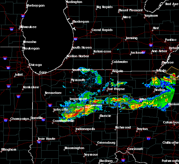 Radar Image for Severe Thunderstorms near Rockford, OH at 5/28/2019 6:29 PM EDT