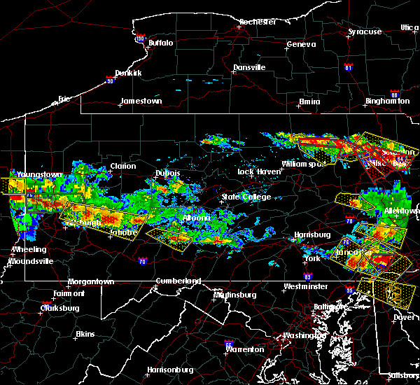 Radar Image for Severe Thunderstorms near East Freedom, PA at 5/28/2019 6:33 PM EDT