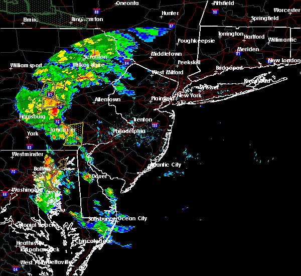 Radar Image for Severe Thunderstorms near Christiana, PA at 6/14/2015 7:04 PM EDT