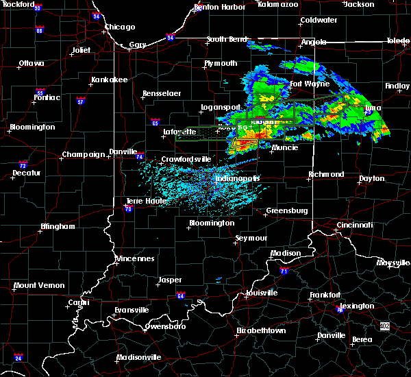 Radar Image for Severe Thunderstorms near Elwood, IN at 5/28/2019 7:02 PM EDT