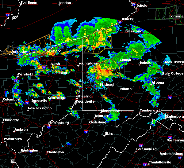 Radar Image for Severe Thunderstorms near Meadville, PA at 6/14/2015 7:16 PM EDT