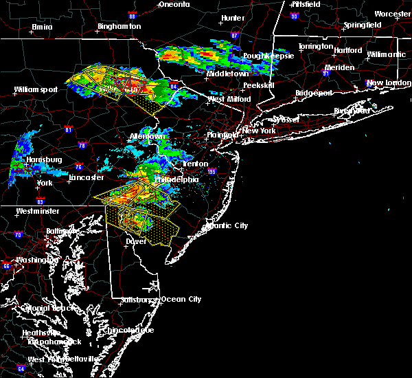 Radar Image for Severe Thunderstorms near Clayton, NJ at 5/28/2019 7:13 PM EDT