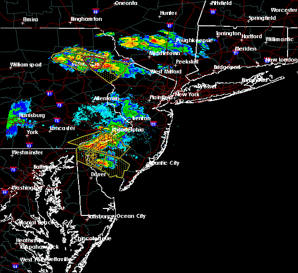 Radar Image for Severe Thunderstorms near Claymont, DE at 5/28/2019 7:13 PM EDT
