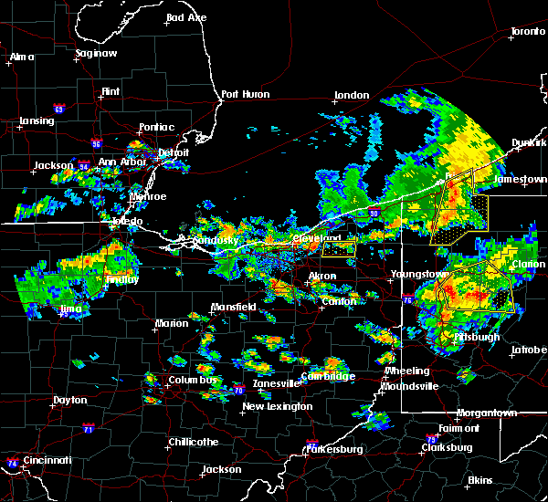Radar Image for Severe Thunderstorms near Chesterland, OH at 6/14/2015 7:26 PM EDT