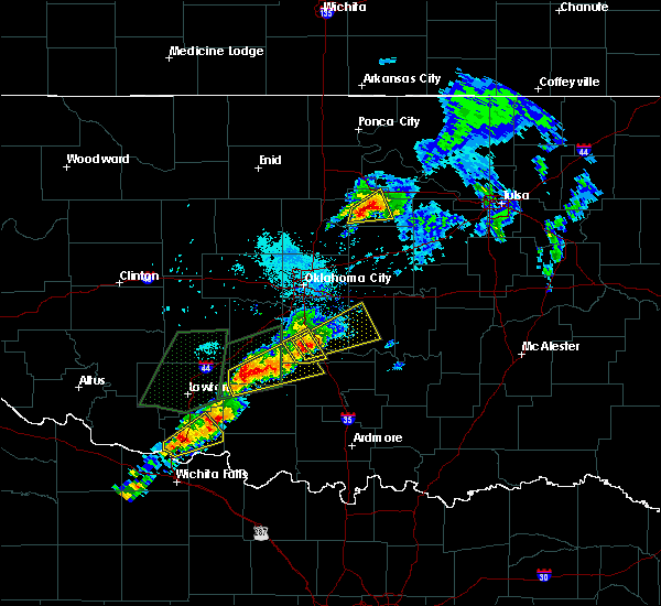 Radar Image for Severe Thunderstorms near Yale, OK at 5/28/2019 7:43 PM CDT