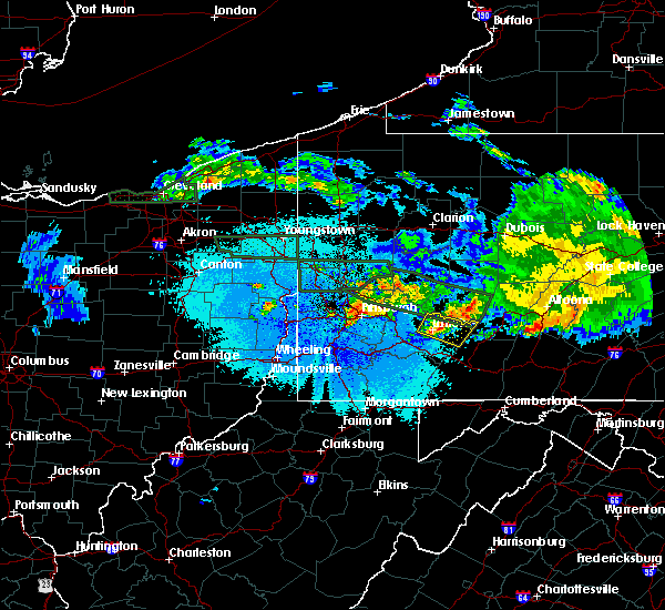 Radar Image for Severe Thunderstorms near Youngstown, PA at 5/28/2019 10:24 PM EDT